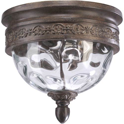 Georgia Two-Light Etruscan Sienna Outdoor Flush Mount