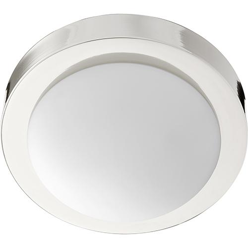 Quorum International Polished Nickel One-Light 9.25-Inch Ceiling Mount