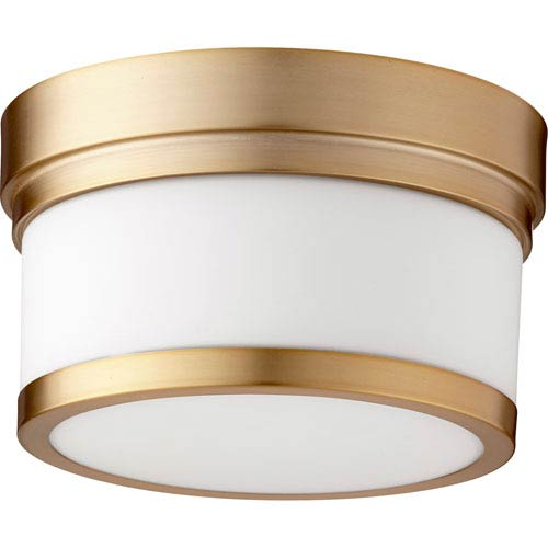 Celeste Aged Brass One-Light 9-Inch Flush Mount