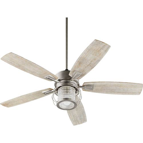 Galveston Satin Nickel One-Light 52-Inch Ceiling Fan