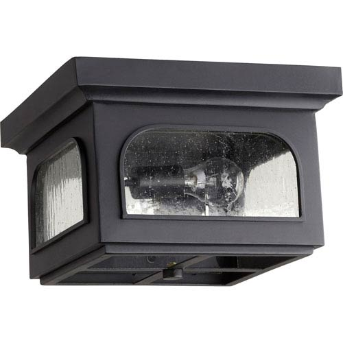 Fuller Noir Two-Light 13-Inch Outdoor Flush Mount