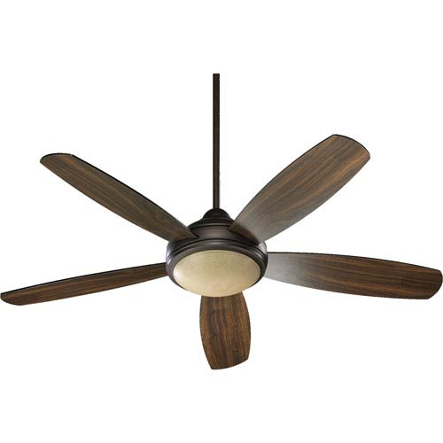 Quorum International Colton Three-Light Oiled Bronze 52-Inch Ceiling Fan