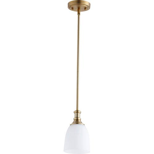 Richmond Aged Brass One-Light 5-Inch Mini Pendant