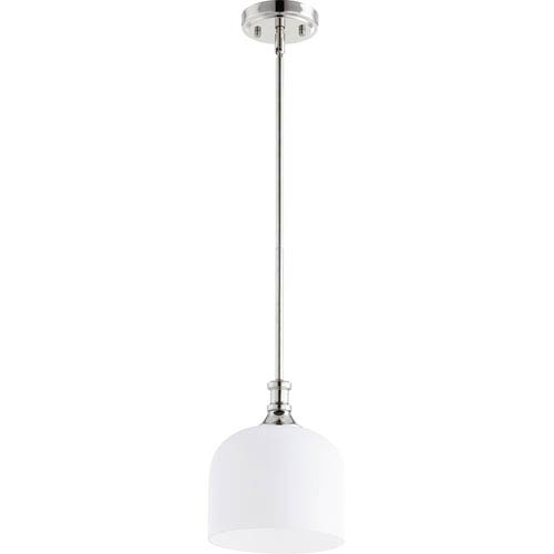 Richmond Polished Nickel One-Light 8-Inch Mini Pendant