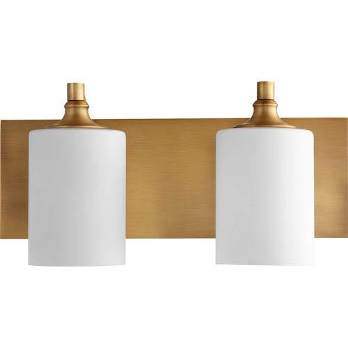 Celeste Aged Brass Two-Light 17-Inch Vanity