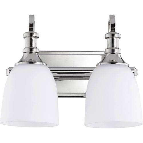 Richmond Polished Nickel Two-Light 13-Inch Vanity