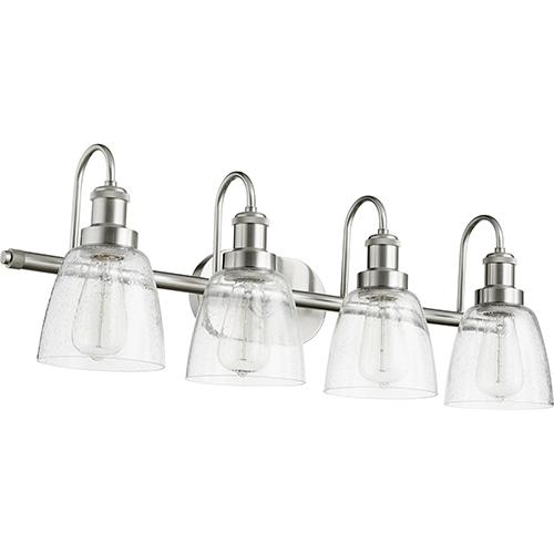 Satin Nickel Four-Light 30.25-Inch Bath Vanity