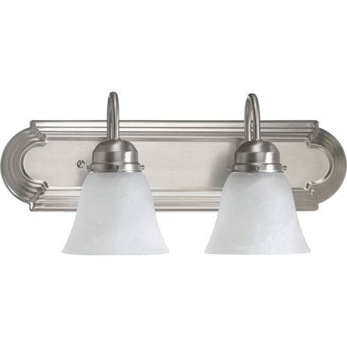 Quorum International Two-Light Satin Nickel Bath Fixture