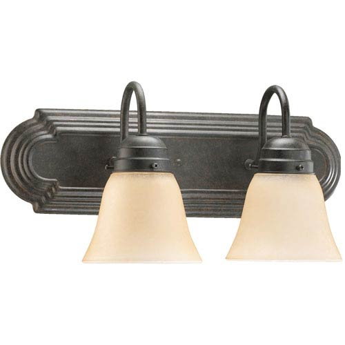 Quorum International Two-Light Toasted Sienna Bath Fixture