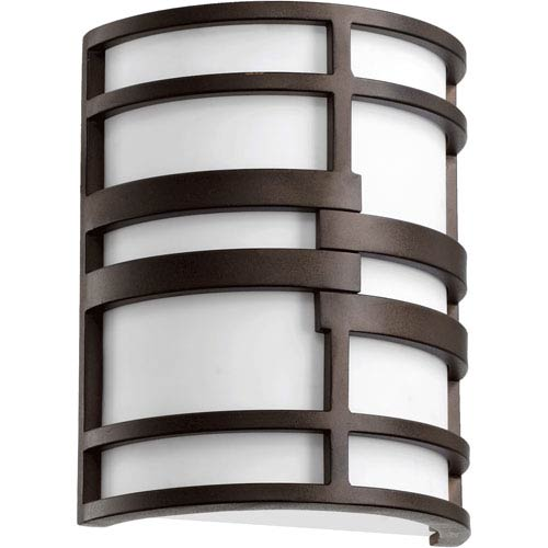 Solo Oiled Bronze Two Light Wall Sconce with White Glass