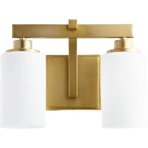 Lancaster Aged Brass Two-Light 13-Inch Vanity
