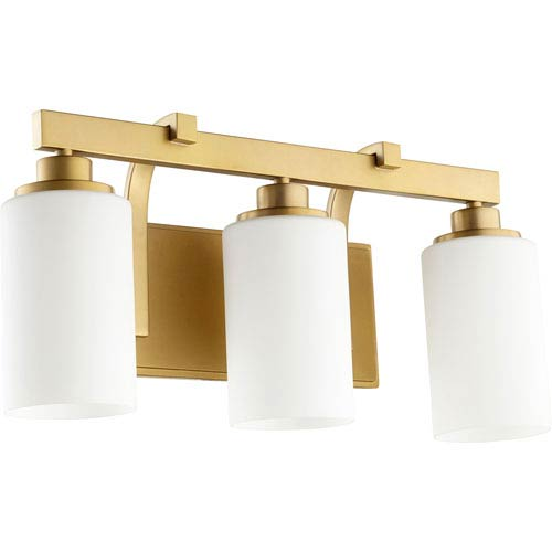 Lancaster Aged Brass Three-Light 20-Inch Vanity