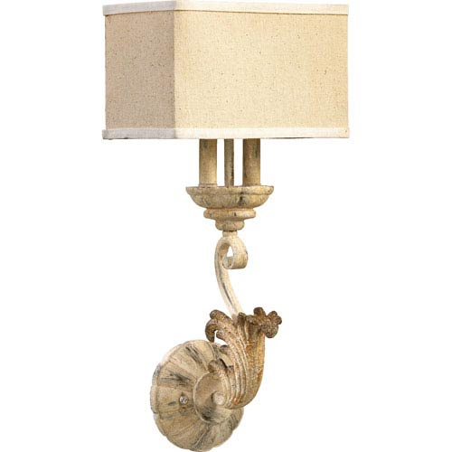 Quorum International Florence Persian White Two-Light Wall Sconce