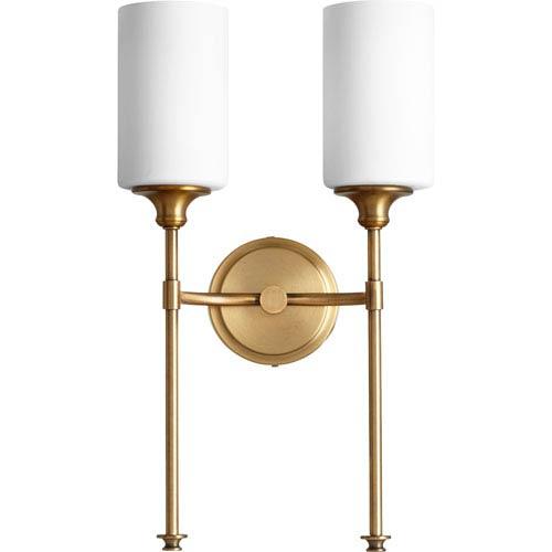 Celeste Aged Brass Two-Light 11-Inch Wall Mount