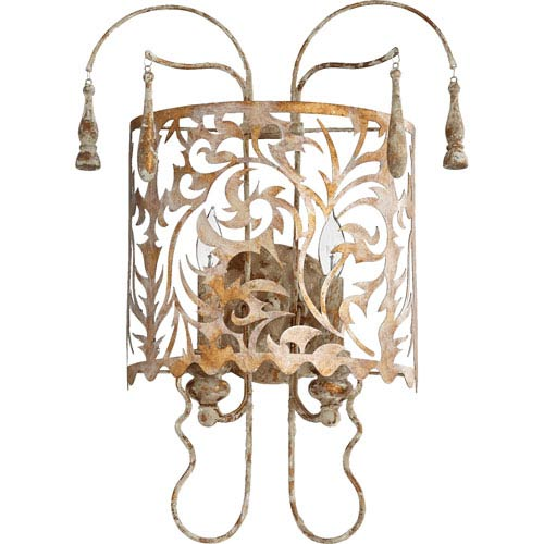 Leduc Florentine Gold Two-Light Wall Sconce