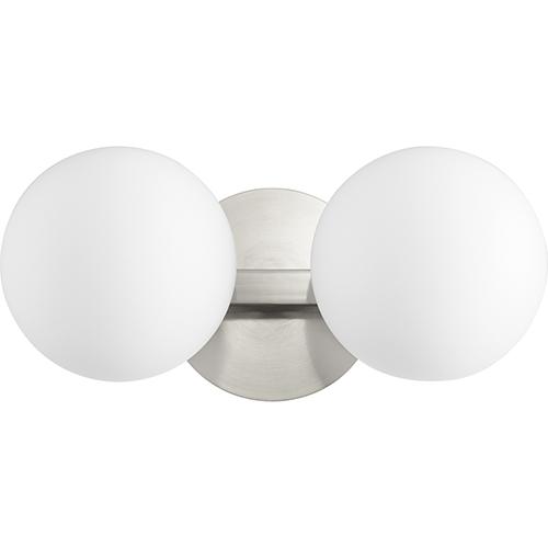 Quorum International Satin Nickel Two-Light 14-Inch Bath Vanity