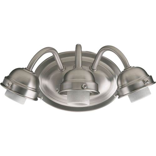 Quorum International Satin Nickel 4.75-Inch Three Light Wall Mounted Fixture