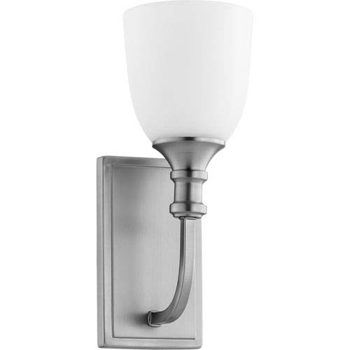 Quorum International Richmond Satin Nickel One-Light 5-Inch Wall Mount