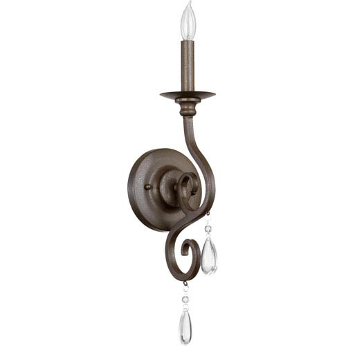 Quorum International Anders Oiled Bronze One Light Wall Mounted Fixture with Bracket