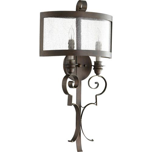 Quorum International Champlain Vintage Copper Two-Light Wall Sconce