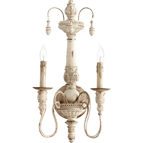 Salento Persian White 22-Inch Two Light Wall Mounted Fixture