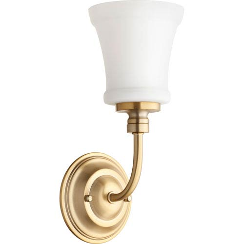 Quorum International Rossington Aged Brass One-Light 5-Inch Wall Mount