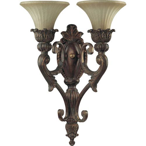 Madeleine Two-Light Corsican Gold Sconce