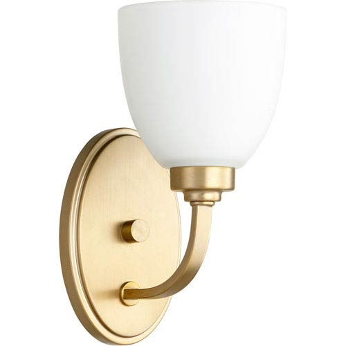 Reyes Aged Brass One-Light 5-Inch Wall Mount