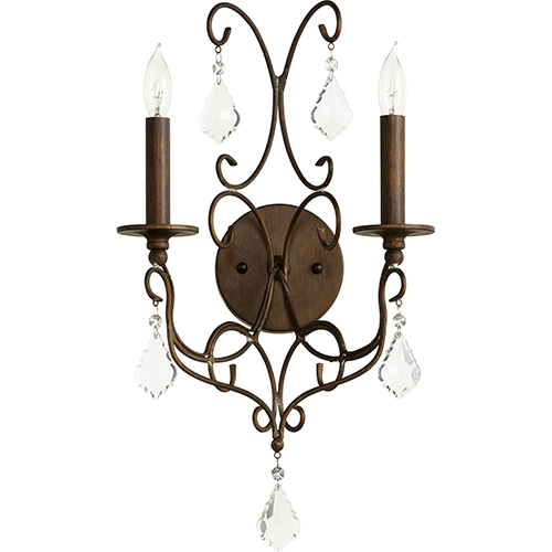 Ariel Vintage Copper Two-Light 11-Inch Wall Sconce