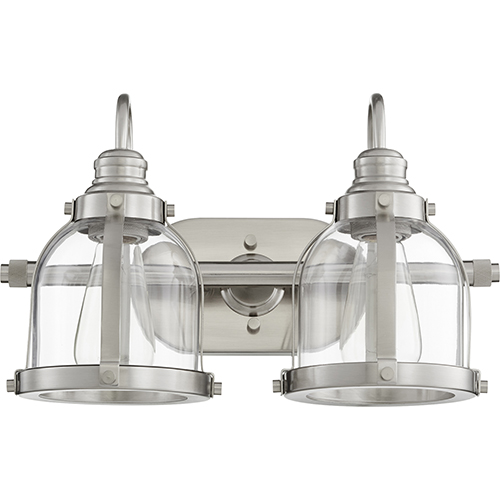 Satin Nickel Two-Light 16-Inch Bath Vanity