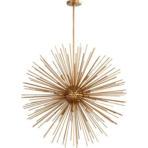 Electra Gold Leaf 35-Inch Ten-Light Pendant