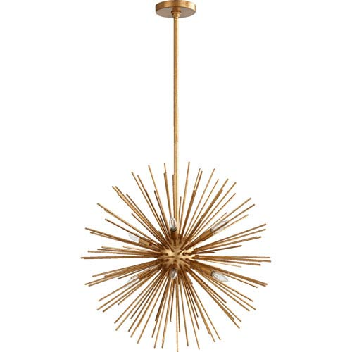 Electra Gold Leaf 23-Inch Eight-Light Pendant