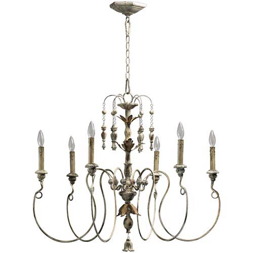 Quorum International Salento Six-Light Persian White Chandelier