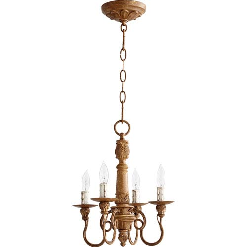 Salento French Umber 15.25-Inch Four Light Chandelier