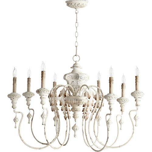Salento Persian White 24-Inch Eight Light Chandelier
