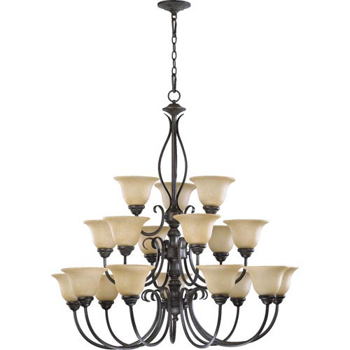 Quorum International Spencer Eighteen-Light Toasted Sienna Chandelier