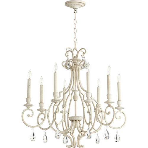 Ansley Persian White Eight-Light 29-Inch Chandelier