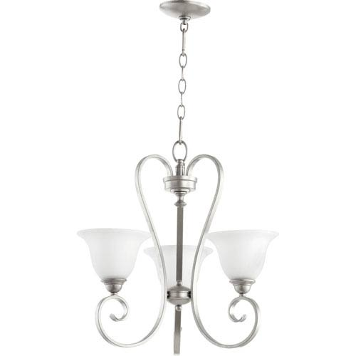 Quorum International Celesta Classic Nickel 20.5-Inch Three Light Chandelier