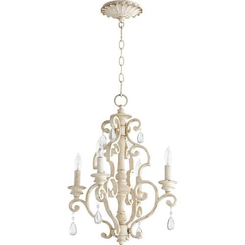 San Miguel Persian White 16-Inch Four-Light Chandelier