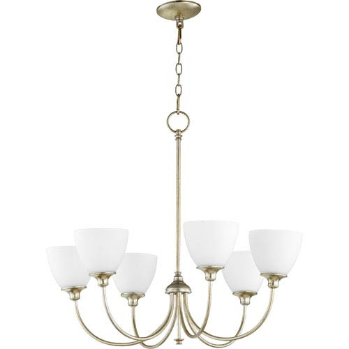 Celeste Aged Silver Leaf Six-Light Chandelier