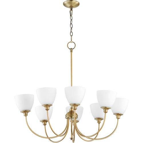 Celeste Aged Brass Eight-Light Chandelier
