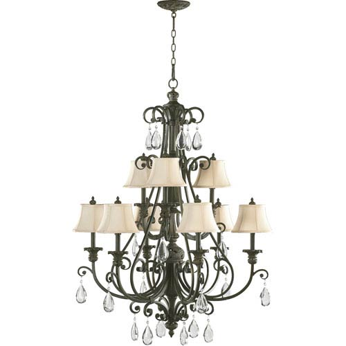 Fulton Nine-Light Classic Bronze Chandelier