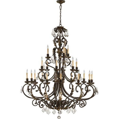 Rio Salado Twenty-One-Light Toasted Sienna with Mystic Silver Chandelier