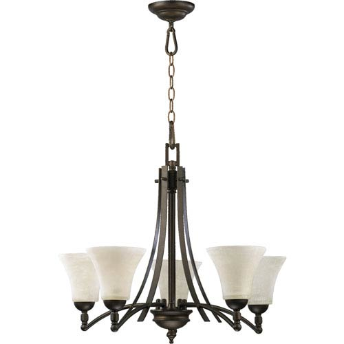 Quorum International Aspen Five-Light Oiled Bronze Chandelier