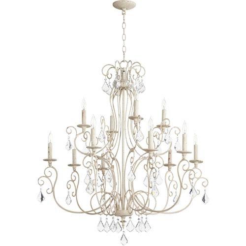 Ariel Persian White Twelve-Light 35-Inch Chandelier