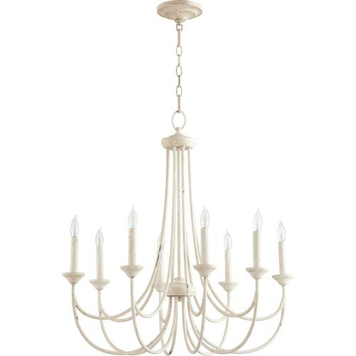 Brooks Persian White 29-Inch Eight-Light Chandelier