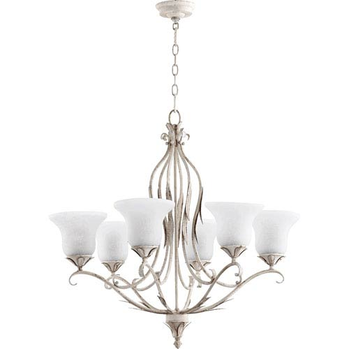 Flora Persian White 30-Inch Six-Light Chandelier