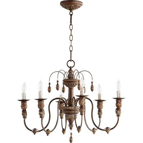 Salento Vintage Copper 25-Inch Six-Light Chandelier