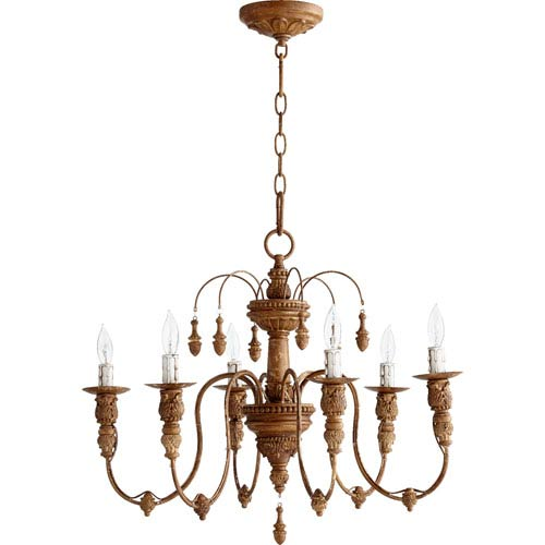 Quorum International Salento French Umber 20-Inch Six Light Chandelier
