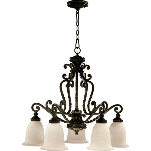Alameda Five-Light Oiled Bronze with Antique Gold Chandelier